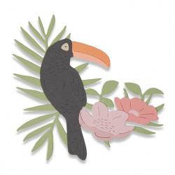 "Thinlits die ""tropical bird"" de Sizzix"