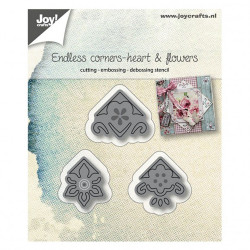 "Die ""Corners heart & flowers"" de Joy!Crafts"