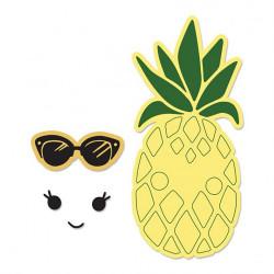 """Die Framelits et tampons """"ananas ensoleillé"""" de Sizzix"""