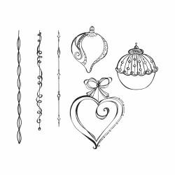 "Tampons 3D Cling stamp set ""Dangling Ornaments"" de Spellbinders"