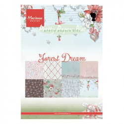 "Set de 32 feuilles de papier scrapbooking 21x15 cm  ""forest dream"" de Marianne Design"