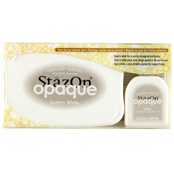 Encre StazOn blanche opaque Cotton white de Tsukineko