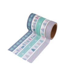 "Set de 5 rouleaux Masking Tape ""My Little Xmas"" d'Artemio ( 15mm x 5m)"