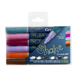 Set de 6 Marqueurs Extra Fins GRAPH'IT SHAKE - Additional colours