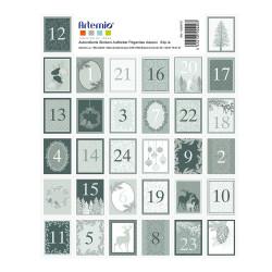 """Set de 64 timbres pré découpés autocollants """"Misty Winter"""" d'Artemio"""