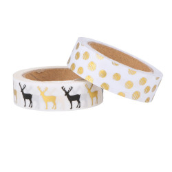 "Set de 2 rouleaux Masking Tape ""Golden Deer"" d'Artemio ( 15mm x 5m)"