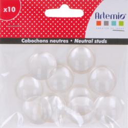 """Set de 10 cabochons neutre plastiques """" d'Artemio"""