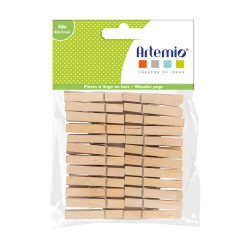 Set de pinces bois d'Artemio (48 pcs)