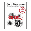 "Tampon transparent Bits & Pieces ""no.40"" de Crealies"