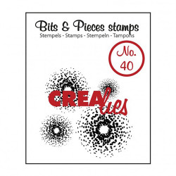 "Tampon transparent Bits & Pieces ""no.40"" de Crealies"