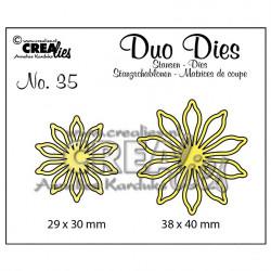 "Die Duo Dies no.35 des fleurs 17"" de Crealies"