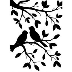 Plaque d'embossage birds...