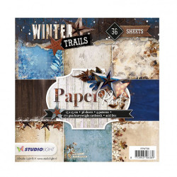 "Set Papier 15x15 ""Winter..."