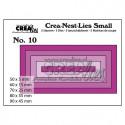 "Die Crea-Nest-Lies Small ""no.10 rectangles"" de Crealies"