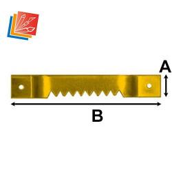 Lot d'attaches dentelées 56 mm en acier laitonné