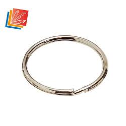Lot d'anneaux brisés diam int. 20 mm en acier nickelé