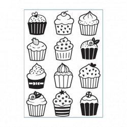 Plaque d'embossage Cupcakes...