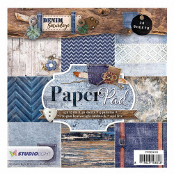 "Set Papier 15x15 ""Denim..."