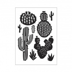 Plaque d'embossage cactus...
