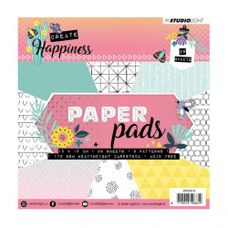 "Set Papier 15x15 ""happiness..."