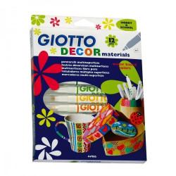 Giotto Decor Materials - Etui avec accroche 12 feutres