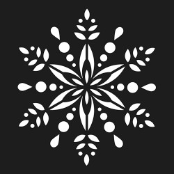 "Pochoir ""Folk couronne..."