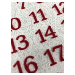 Set autocollants chiffres...