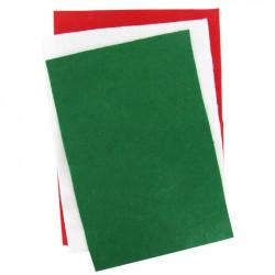 Set de 6 feutrines 20 x 30 cm aux couleurs de Noël