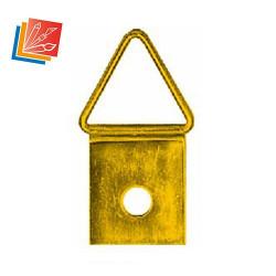 Lot d'attaches triangulaires longue N°4 à riveter ou visser en acier laitonné