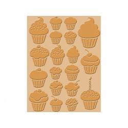 Plaque d'embossage Cupcakes de Craft concepts