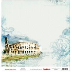 Papier scrapbookiing Discovery Italy -Colosseum  de Scrapberry's