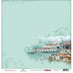 Papier scrapbooking Discovery Italy -Venice  de Scrapberry's en 30.5x30.5