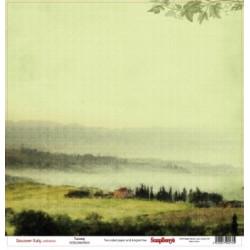 Papier scrapbooking Discovery Italy - Tuscany de Scrapberry's en 30.5x30.5