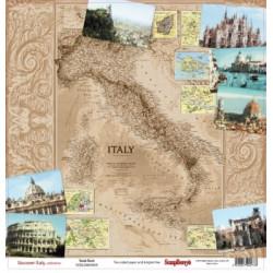 Papier scrapbooking Discovery Italy - Guide Book de Scrapberry's en 30.5x30.5