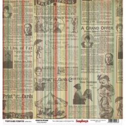 Papier scrapbooking Vintage Circus - Circus Stars de Scrapberry's en 30.5x30.5