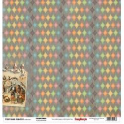 Papier scrapbooking Vintage Circus - Fireworks de Scrapberry's en 30.5x30.5
