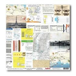Papier scrapbooking Around the world - A page from guidebook de Scrapberry's en 30.5x30.5