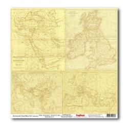 Papier scrapbooking Around the world - The distant countries de Scrapberry's en 30.5x30.5