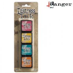 Set de 4 mini encreurs Distress Ink 'Ranger' N°1