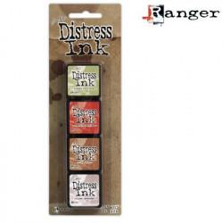 Set de 4 mini encreurs Distress Ink 'Ranger' N°11