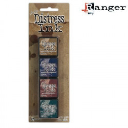 Set de 4 mini encreurs Distress Ink 'Ranger' N°12