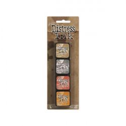 Set de 4 mini encreurs Distress Ink 'Ranger' N°7