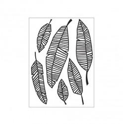 Plaque d'embossage feuilles...