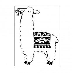 Plaque d'embossage Lama de...