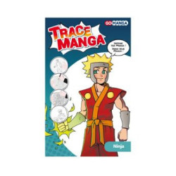 "Gabarit trace Manga ""Ninja""..."