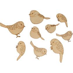 """Bois ornement """"oiseaux""""..."""