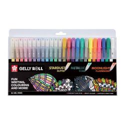 Set de 24 crayons gel Gelly...