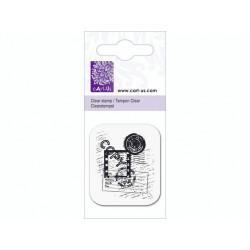Mini tampon transparent cachet poste- Planche 5 x 6 cm Cart us