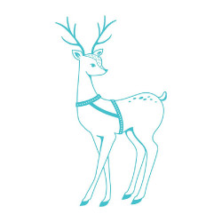 "Tampon transparent ""Deer""..."