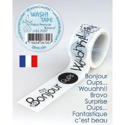 "Masking Tape ""Vœux Français..."